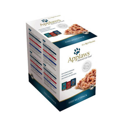 Picture of Applaws Cat Pouch Fish Multi pack 12 x 70g