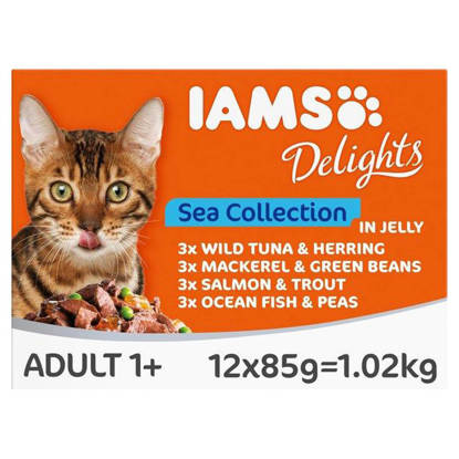 Picture of Iams Delights Sea Collection Cat Food 12 x 85g