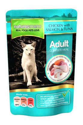 Picture of Natures Menu Cat Chicken/Salmon/Tuna - 12 x 100g