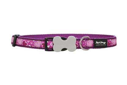 Picture of Red Dingo Cat Collar - Breezy Love Purple - 20-32cm