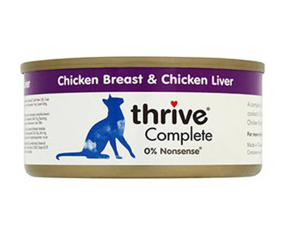 Picture of Thrive Cat Tin Chicken / Liver - 12 x 75g