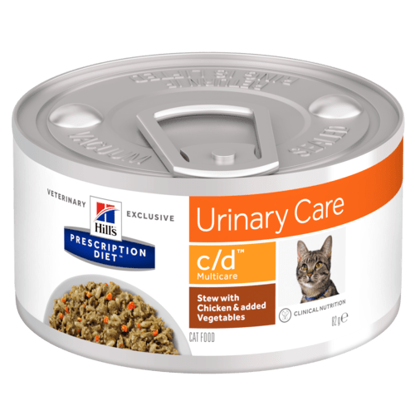 Picture of Hills Prescription Diets c/d Cat Urinary Stress Stew with Chicken & added Vegetables 82g x 24