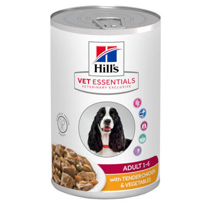 Picture of Hill's Vet Essentials Adult Dog Food with Tender Chicken & Vegetables 12x 363g
