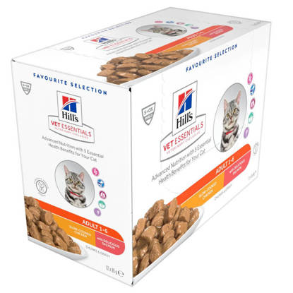 Picture of Hills Vet Essentials Adult cat Food Variety Pack with Salmon & Chicken