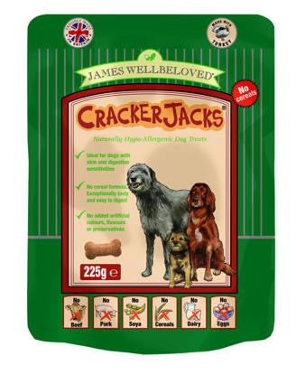 Picture of James Wellbeloved  Crackerjacks (Dog) Turkey 225g x 6 Cereal Free