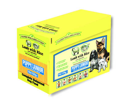 Picture of James Wellbeloved Complete Lamb with Rice Puppy 150g  x 40 Pouch