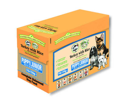 Picture of James Wellbeloved Complete Turkey & Rice Puppy 150g x 40 Pouch