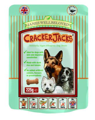 Picture of James Wellbeloved Crackerjacks (Dog) Duck 6 x 225g