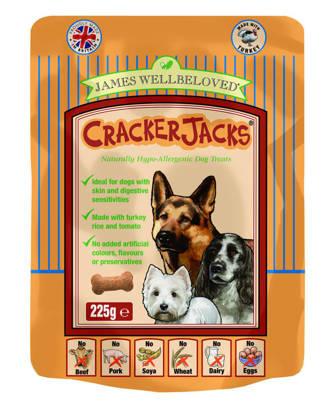 Picture of James Wellbeloved Crackerjacks (Dog) Turkey 6 x 225g