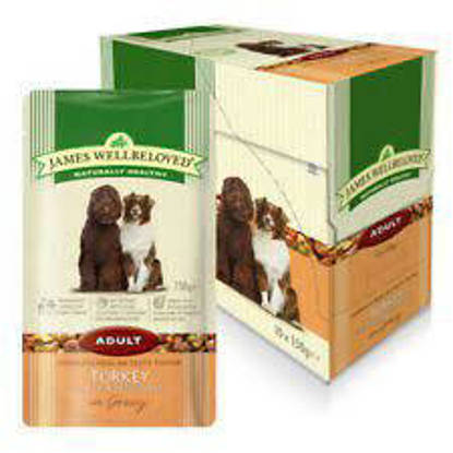 Picture of James Wellbeloved Lamb Adult Dog Pouch Mega Pk 150g x 40