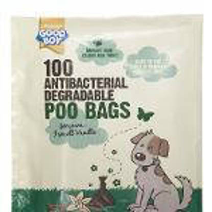 Picture of Good Boy Degradeable Antibacterial Poo Bags - pack 100 x 34