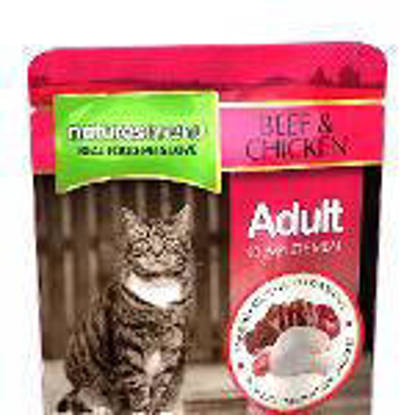 Picture of Natures Menu Cat Beef/Chicken Pouch - 12 x 100g
