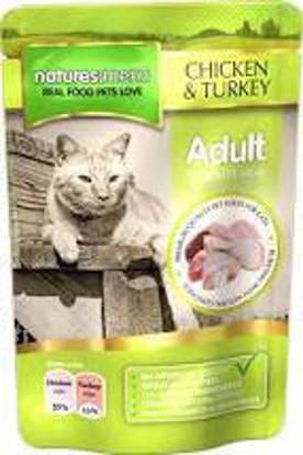 Picture of Natures Menu Cat Chicken/Turkey Pouch - 12 x 100g