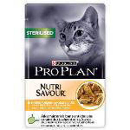 Picture of Proplan Sterilised Cat Chicken Pouches - 10 x 85g wet